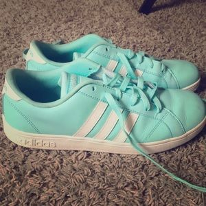 Turquoise adidas sneakers